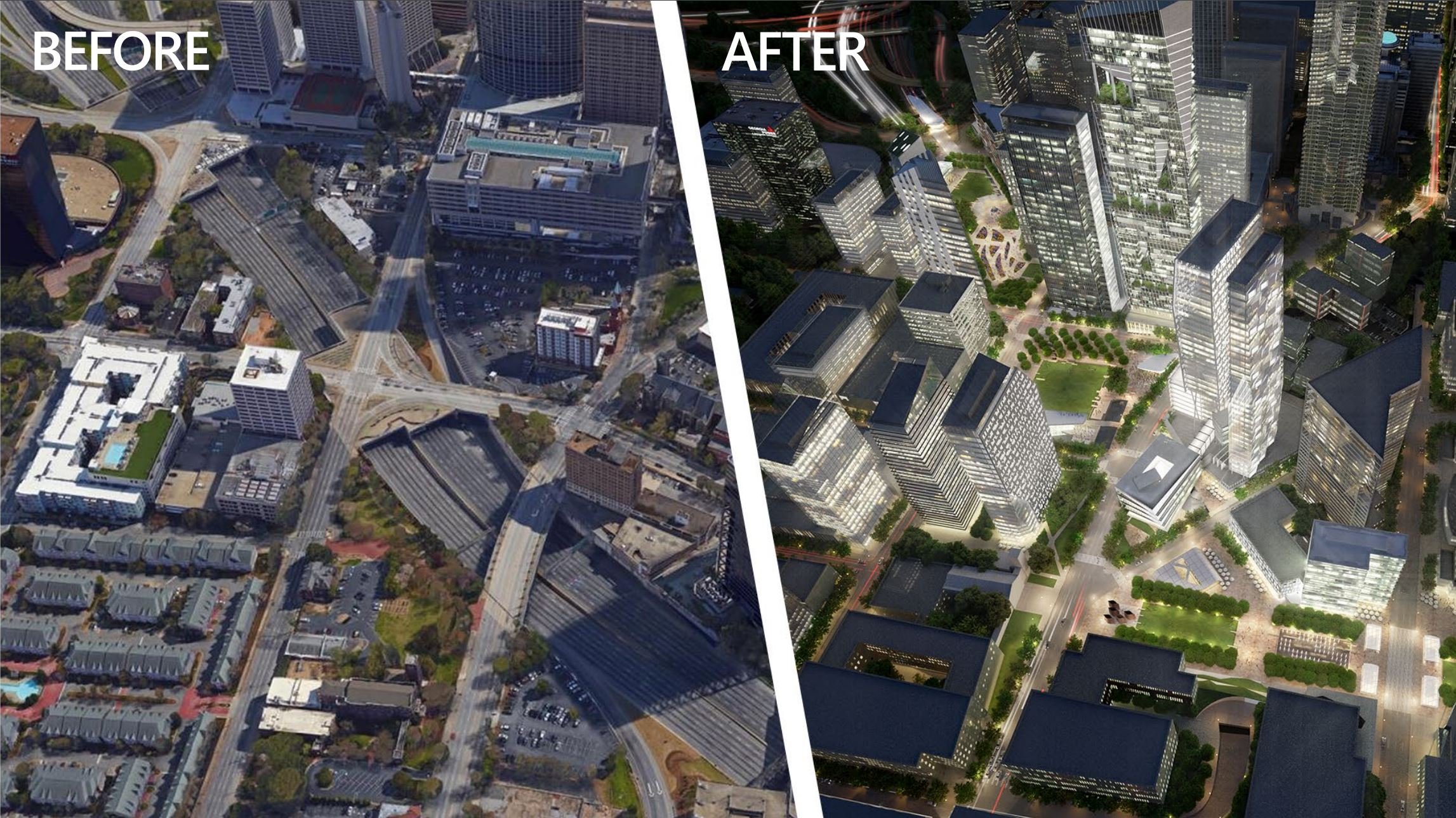 """The """"Stitch"""" in Atlanta, GA plans to cap the I-75/I-85 Downtown Connector"""